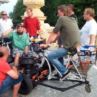 Rower na przyczepie filmowej